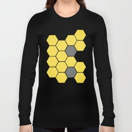 Yellow Honeycomb Long Sleeve T-shirt