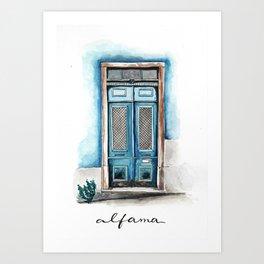 Beautiful Lisbon typical door Art Print