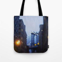 Manhattan Bridge at Night II Tote Bag