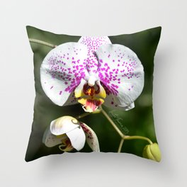 Orchid in the green Throw Pillow
