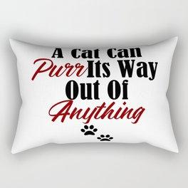 Funny Cat Purr Kitty Master Meow Kitten Pet Whisperer Rectangular Pillow