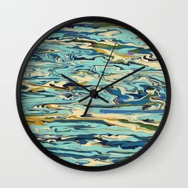 Abstract Oceanic Force Wall Clock