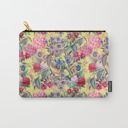 Floral on Yellow Carry-All Pouch