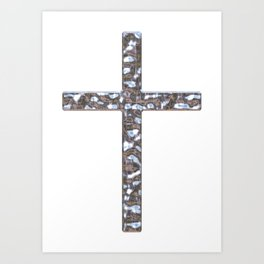Chrome Crucifix Solid Art Print