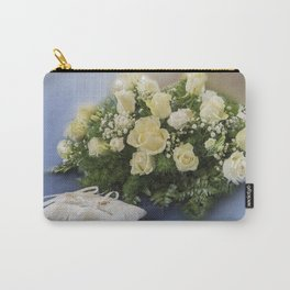 bridal bouquet and wedding rings Carry-All Pouch