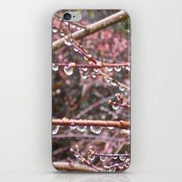 Hanging rain drops iPhone Skin