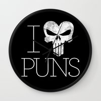 punisher Wall Clocks featuring PUNisher by Jason St. Peter