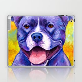 Colorful American Pitbull Terrier Dog Laptop & iPad Skin