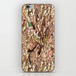 uncanny fuck-off iPhone Skin
