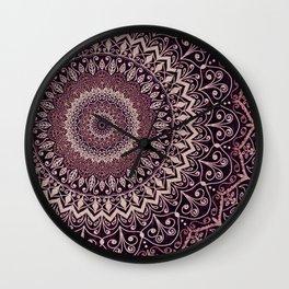 MARSALA MANDALA Wall Clock