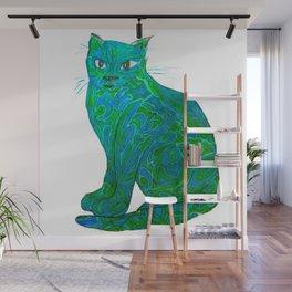 Fauvist Cat Wall Mural