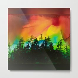 Sunset On The Pines Metal Print