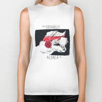 rockabilly Biker Tanks featuring Rockabilly Alpaca by Ariel Vittori