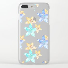 Tropical bloom pattern Clear iPhone Case