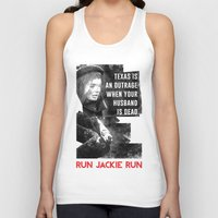 misfits Tank Tops featuring Misfits JFK Poster Series - Your Husband is Dead by Robert John Paterson