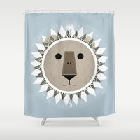 narnia Shower Curtains featuring The Lion, the Witch and the Wardrobe by Rowan Stocks-Moore