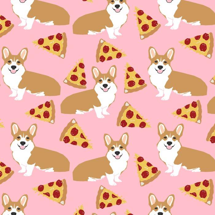 Welsh Corgi Pizza pattern funny dog art customized pet portrait children fur baby must have corgi  Leggings