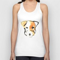 jack russell Tank Tops featuring Jack Russell by Jen Moules