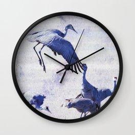 Hopping Crane Wall Clock