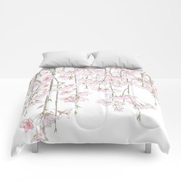 pink cherry blossom spring 2018 Comforters