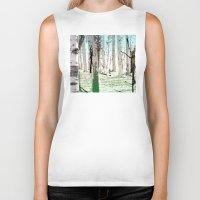 birch Biker Tanks featuring Birch Forest by Phil Perkins