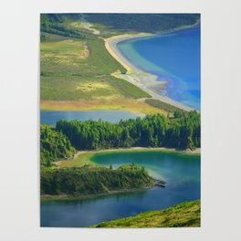 Colorful lake Poster
