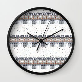 Retinal Circuitry - Color on White Wall Clock