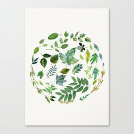 Circle of Leaves Canvas Print