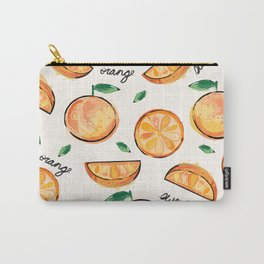 Sweet Orange (Black Font) Carry-All Pouch