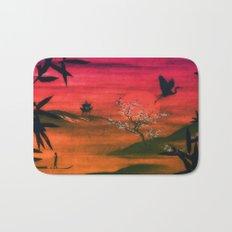 Oriental Sunset Bath Mat