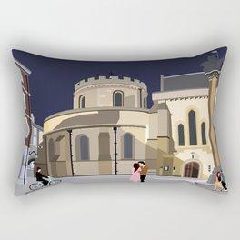 Lovers at Temple Church Rectangular Pillow