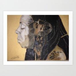 Man Behind the Mask Art Print