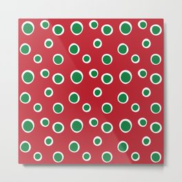 Christmas Dots Metal Print