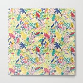 Fruit Tea Florals - Lemon Metal Print