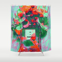 Parfum Flowers Shower Curtain