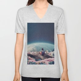 My World Blossomed when I Loved You Unisex V-Neck