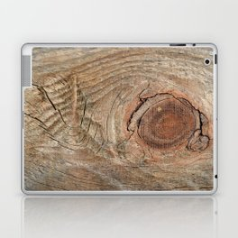Wood with knot Laptop & iPad Skin