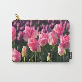 Pink and Purple Tulips Carry-All Pouch
