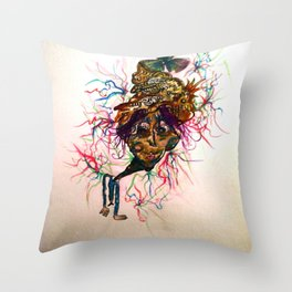 Low Five Watercolor Character Throw Pillow