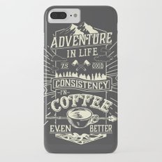 Coffee iPhone 7 Plus Slim Case