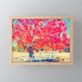 Orange Tree Watercolor digital Framed Mini Art Print