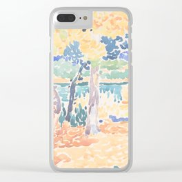 Pines on the Coastline by Henri-Edmond Cross, French Clear iPhone Case