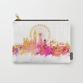 London skyline map city pink Carry-All Pouch