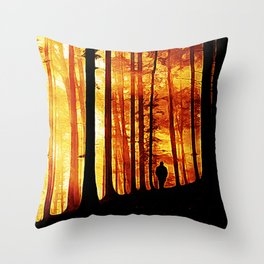 Conversing with Ancients  Throw Pillow