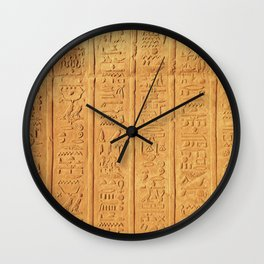 Hyerogliph Wall Clock