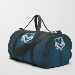 Whale Heart Splash Duffle Bag