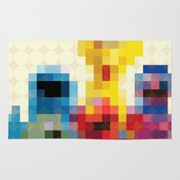 sesame street Area & Throw Rugs featuring Sesame by Glen Gould
