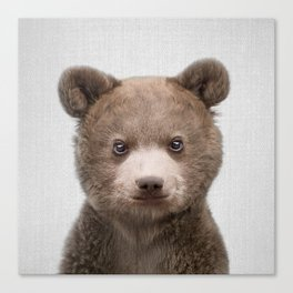 Baby Bear - Colorful Canvas Print