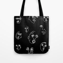 blind faces Tote Bag