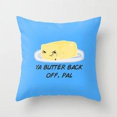 Sour food puns - Butter Throw Pillow
